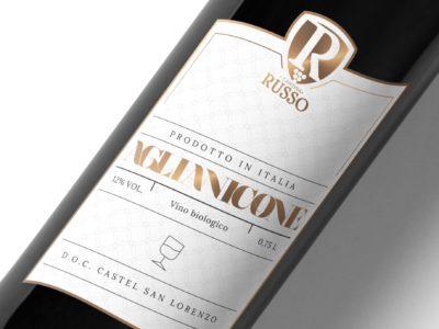 Aglianicone wine label