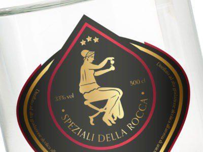 Speziali della Rocca liqueur labels